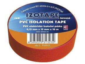 Páska izolační PVC 15/10m červená EMOS