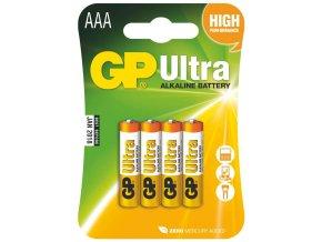 3922 alkalicka baterie gp ultra lr03 aaa 4 ks v blistru