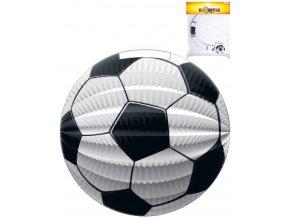 Lampion papírový kulatý fotbalový míč 23cm v sáčku