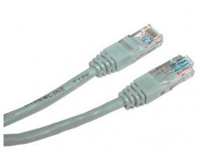 Patch kabel UTP cat 5e, 0,5m - šedý
