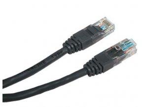 Patch kabel UTP cat 5e, 0,5m - černý