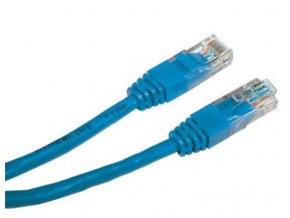 Patch kabel UTP cat 5e, 0,5m - modrý