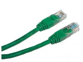 Patch kabel UTP cat 5e, 0,5m - zelený