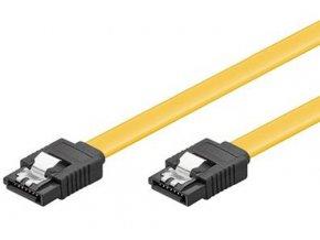 Kabel k HDD PremiumCord 0,2m SATA 3.0 datový kabel 1.5GBs / 3GBs / 6GBs, kov.západka