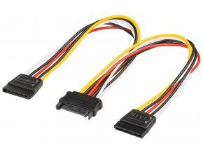 Kabel napájecí k HDD Serial ATA rozdvojka M/2xF 0,16m