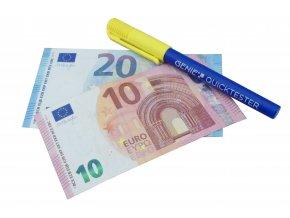 Detektor padělků Genie Quicktester, fix na kontrolu pravosti bankovek