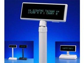 Displej Giga DSP-840U-00, zákaznický displej 2x20 znaků, USB, béžový