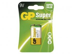 Baterie 6F22 (9V) alkalická GP Super Alkaline 9V blistr
