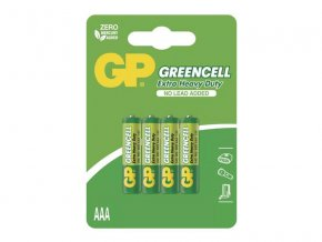 Baterie AAA (R03) Zn-Cl GP Greencell 4ks