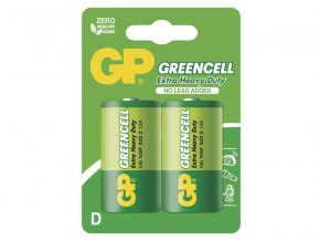 Baterie D (R20) Zn-Cl GP Greencell 2ks