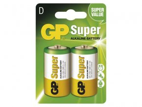 Batéria D (R20) alkalická GP Super Alkaline 2ks