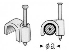 Příchytka kabelová KO 5 5mm bílá