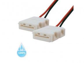 Spojka nepájivá pro LED pásek 3528, 2835 30,60LED/m 8mm s vodičem, voděodolný IP68