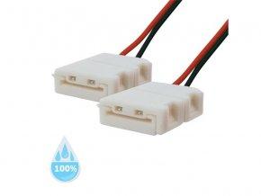 Spojka nepájivá pro LED pásek 5050, 5630 30,60LED/m 10mm s vodičem, voděodolný IP68