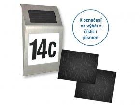 Svítidlo solární 4L s číslem domu