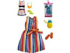 MATTEL BRB Módní set obleček pro panenku Barbie různé druhy