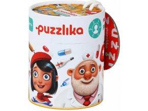 PUZZLIKA Baby puzzle Profese 1. 3v1 skládačka kruhová 21 dílků