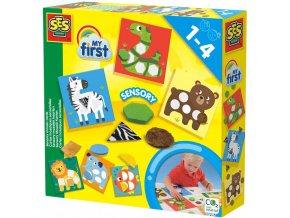 SES CREATIVE Baby Moje první mozaika nalepovací zvířátka 6 karet