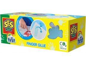 SES CREATIVE Moje první baby lepidlo magické prstové 2x 95ml modré