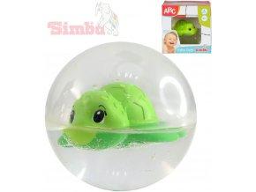 SIMBA Baby želvička plavající v kouli 8cm pro miminko
