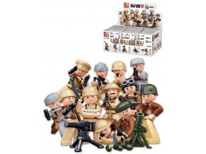 SLUBAN ARMY WWII Mini figurka voják 12 druhů set s doplňky ke stavebnici plast