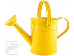 WOODY Konev dětská kropící žlutá 29cm plechová 1,5 l s kropítkem