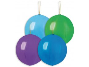 GEMAR Balónek nafukovací punch ball 45cm pastelový set 4ks různé barvy