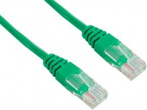 Patch kabel UTP cat 5e, 0,25m - zelený