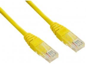 Patch kabel UTP cat 5e, 0,25m - žlutý