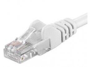 Patch kabel UTP cat 5e, 0,25m - bílý