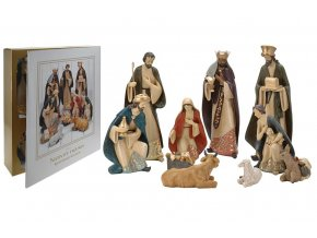 Betlém Vánoční dekorace sada 10 figurek