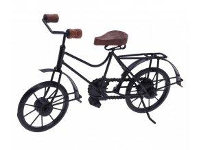 Dekorace stojící kovová Bicykl 36 cm černá