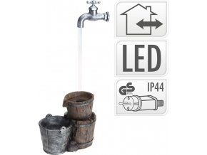 Fontána pokojová i venkovní s LED osvětlením Vědra