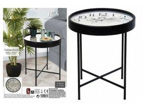 Konferenční stolek s hodinami HOMESTYLING 63 x 70 cm