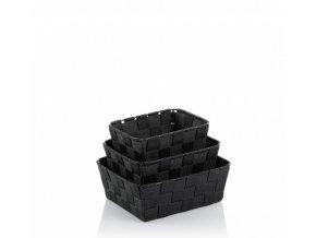 Koš Alvaro set PP, černá, 3ks KELA KL-23029