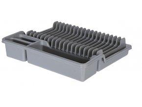 Odkapávač na nádobí rozkládací 35x30cm šedá EXCELLENT KO-022000140se