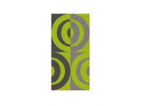 Osuška LADESSA, 100% bavlna, zelená 70x140cm půlkruhy KELA KL-22188