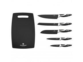Sada nožů s nepřilnavým povrchem + prkénko 6 ks NonStick Chef