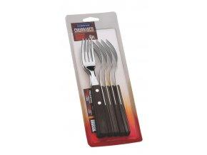 Vidlička steaková Tramontina 6 ks tmavé dřevo TRAMONTINA 29899157