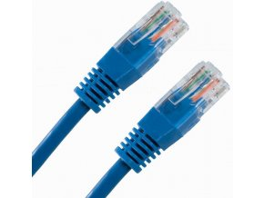 Patch kabel UTP cat 5e, 0,25m - modrý
