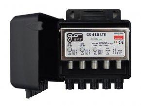 Anténní zesilovač GoSAT GS410LTE, na stožár,1xFM G20dB, 1xDAB G20dB, 2xUHF G30dB