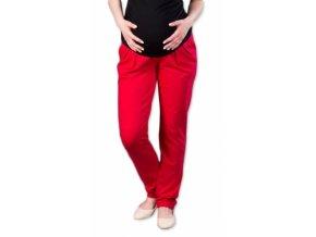 Těhotenské kalhoty/tepláky Gregx, Awan s kapsami - červené