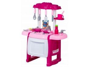 Wanyida Toys Dětská kuchyňka s příslušenstvím - růžová