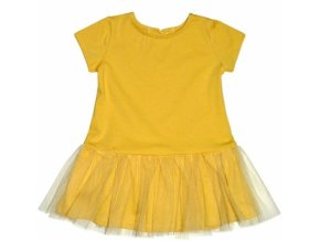 Kojenecké šaty K-Baby - hořčicové