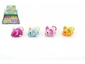 Myš na klíček plast 8cm 4 barvy 12ks v boxu