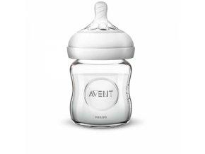 Dětská skleněná láhev Avent Natural, 120 ml