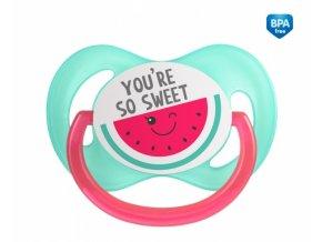 Canpol babies Dudlík symetrický So Cool 18 m+ C - růžový