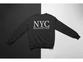 KIDSBEE Super klučičí tepláková mikina Nyc Manhattan - černá