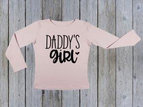 KIDSBEE Dívčí bavlněné tričko Daddy´s Girl - růžové