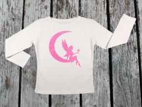 KIDSBEE Dívčí bavlněné tričko Fairy - bílé